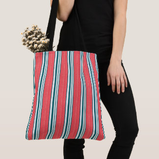 Sea-Bag-Stripes-Red-Green-Totes-Shoulder-Bag Tote Bag