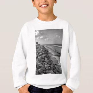 Sea Barrier Atlantic Ocean Georgia Black and White Sweatshirt