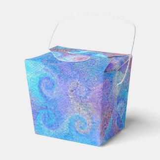 Sea Blue Curls Favour Boxes