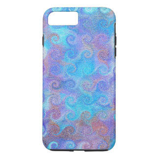Sea Blue Curls iPhone 7 Plus Case
