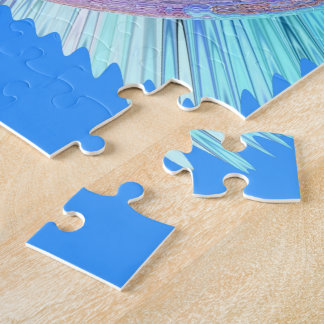 Sea Blue Curls Jigsaw Puzzle