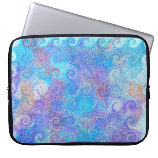 Sea Blue Curls Laptop Computer Sleeve