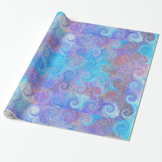 Sea Blue Curls Wrapping Paper