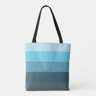 Sea Blue Ombre Tote Bag
