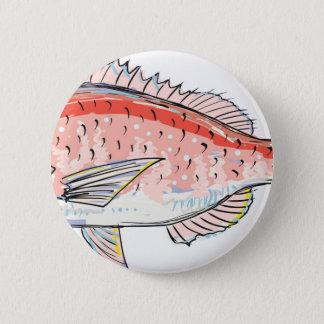 Sea Bream Red Sketch 6 Cm Round Badge