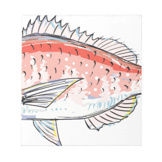 Sea Bream Red Sketch Notepad