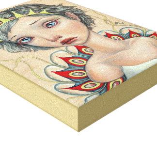 Sea Bride Stretched Canvas Print