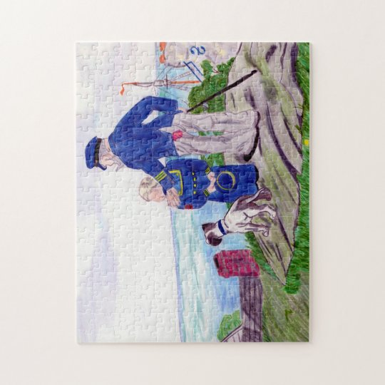 Sea Captain and Grandson Jigsaw Puzzle