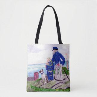 Sea Captain and Grandson Tote Bag