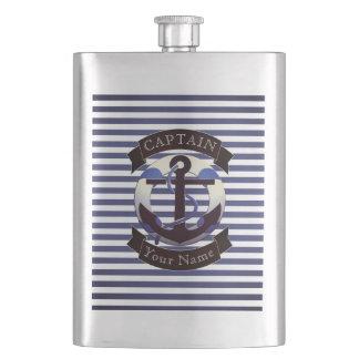 Sea captain sailor personalized hip flask