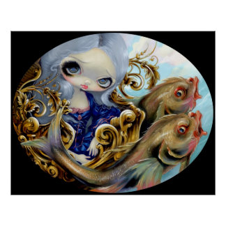 Sea Chariot ART PRINT Rococo Mermaid Surrealism