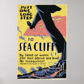 Sea Cliff Vintage Travel Poster Artwork