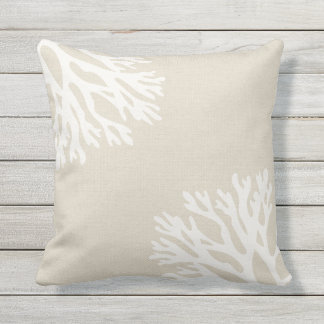 Sea Coral Silhouettes Cushion