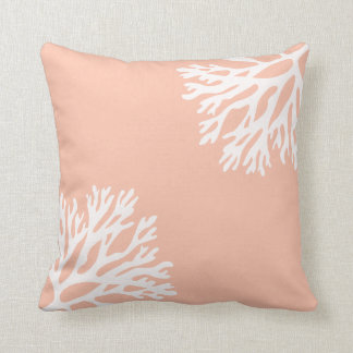 Sea Coral Silhouettes (Light Coral) Cushion
