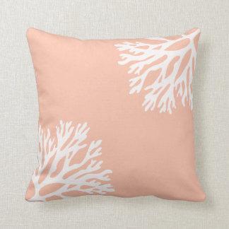 Sea Coral Silhouettes (Light Coral) Cushion