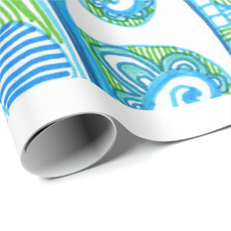 Sea Corner Wrapping Paper