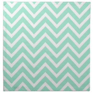 Sea Cottage Mint Green Chevron Napkin