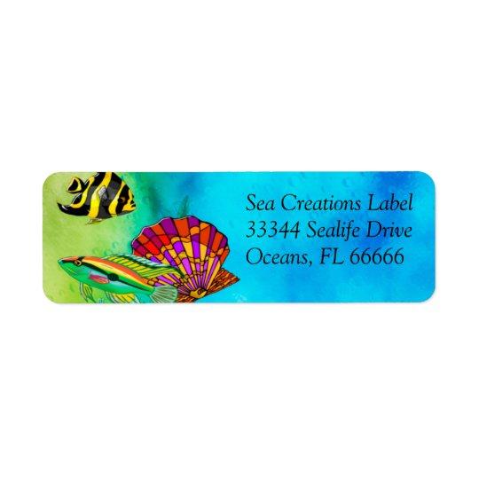 Sea Creations Mixed Media Return Address Label