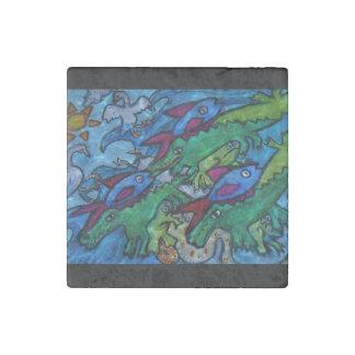 Sea Creature Jumble Stone Magnet