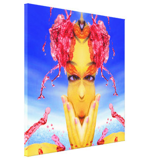Sea Creature Stretched Canvas Print