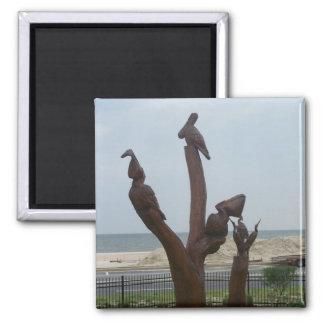 Sea Creature Wood Sculpture magnets