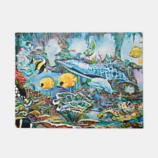 Sea Creatures Beach House Door Mat