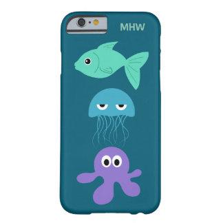 Sea Creatures custom monogram cases