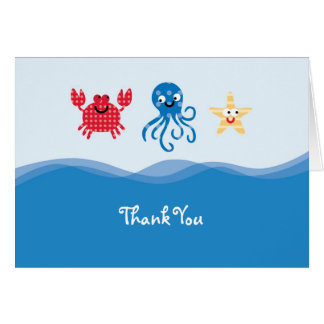 Sea Creatures Thank You Card