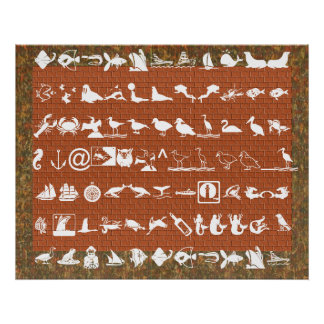 Sea Creatures -  Tiny Symbolic Collection Poster