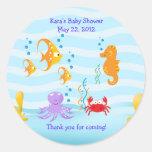 SEA CRITTERS Under Sea Baby Shower Favour Sticker