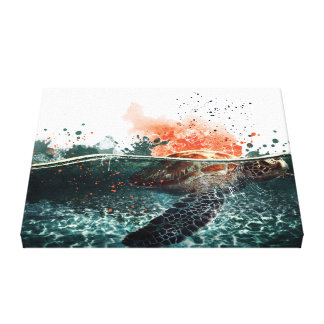 Sea Diver Canvas Print