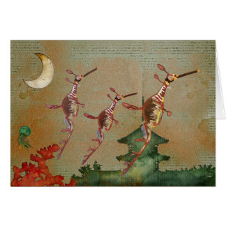 Sea Dragons Moonlight Journey Notecard Greeting Card