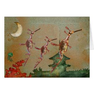 Sea Dragons Moonlight Journey Notecard Greeting Card