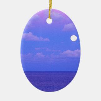 Sea Enchanted Moonrise Cancun Ceramic Ornament