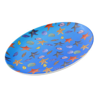 Sea Fantasy by The Happy Juul Company Porcelain Serving Platter