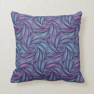 Sea Flowers Throw Pillow