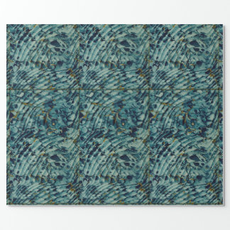 Sea Foam Blue Marbleized Book Endpapers Wrapping Wrapping Paper