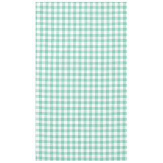 Sea Foam Green and White Gingham Tablecloth