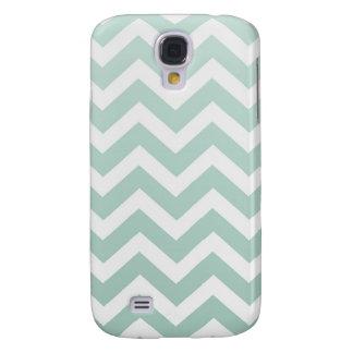Sea Foam Green Ombre Chevron Galaxy S4 Cover
