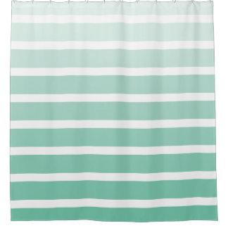 Sea Foam Green Stripe Shades Shower Curtain