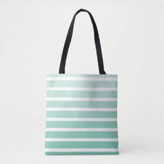Sea Foam Green Stripe Shades Tote Bag