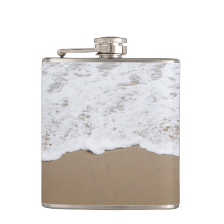 Sea foam, Ocean Waves Hip Flask