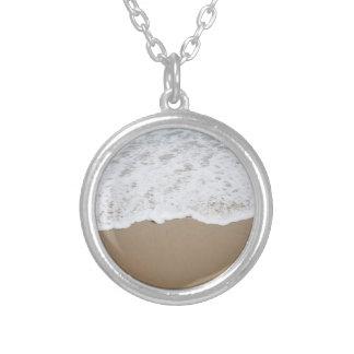Sea foam, Ocean Waves Silver Plated Necklace