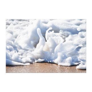SEA FOAM ON BEACH QUEENSLAND AUSTRALIA CANVAS PRINT