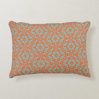 Sea foam Orange Geometric 4Ophelia Decorative Cushion