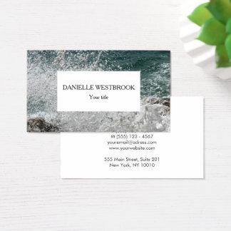 Sea Foam Photo Business Card