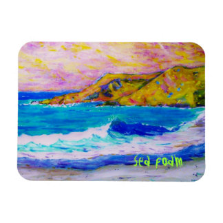sea foam rectangular photo magnet