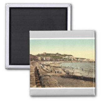 Sea front, Dover, England rare Photochrom Square Magnet