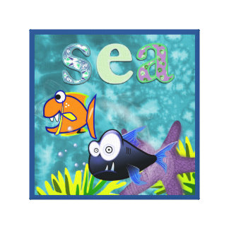 Sea fun for kids Wall Art Gallery Wrapped Canvas