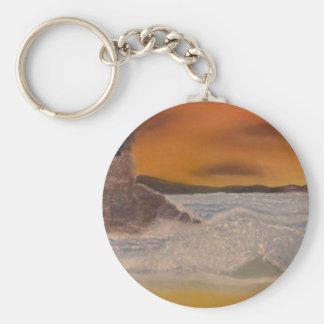 Sea Fury Basic Round Button Key Ring